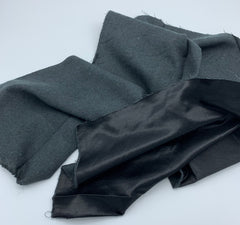 Kasha Satin Lining BLACK LIGHTWEIGHT
