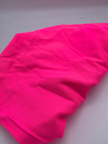 HEAVYWEIGHT NYLON RIBBING - NEON PINK