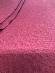Wool Velour - Burgundy