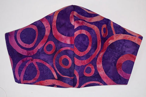 Purple/Pink Batik - FACE MASK