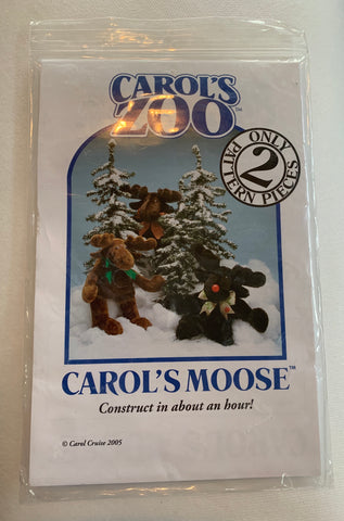 Carol's Zoo MOOSE PATTERN