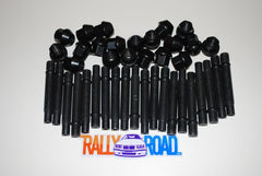 82mm Bullet Nose Stud Set with Black Lug Nuts 5-Lug