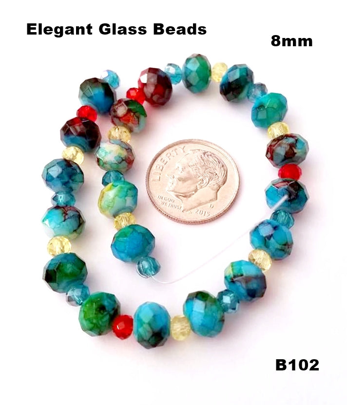 B102 - Elegant Glass Beads