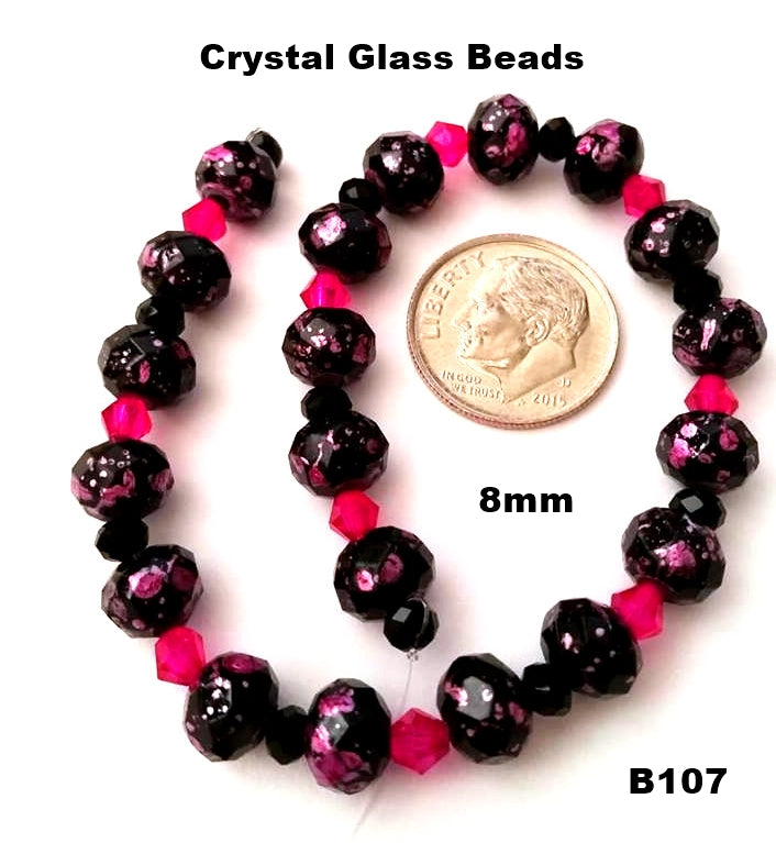 B107 - Elegant Glass Beads