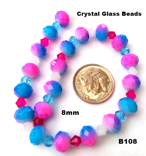 B108 - Elegant Glass Beads