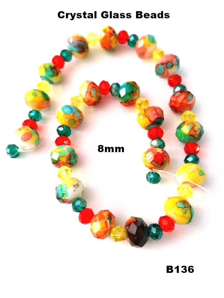 B136 - Elegant Glass Beads