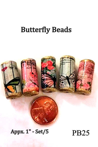 PB25 - Butterfly & Paris Beads