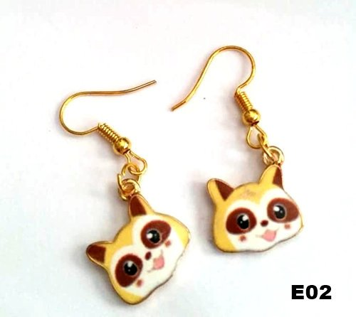 E02 - Raccoon Earrings