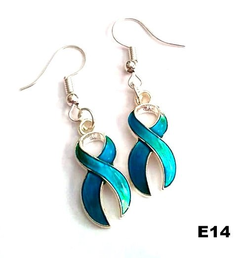 E14 - Blue Ribbon Earring