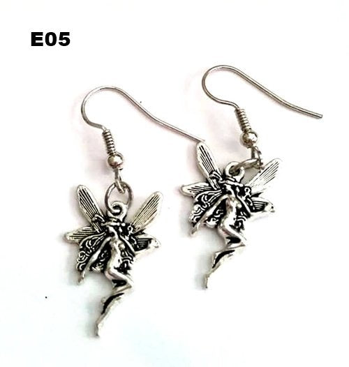 E05 - Silver Fairy Earrings