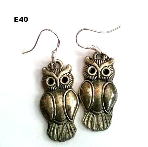 E40 - Adorable Owl Earrings