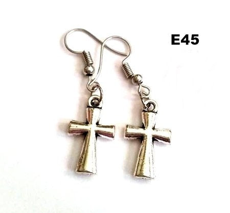 E45 - Cross Earrings
