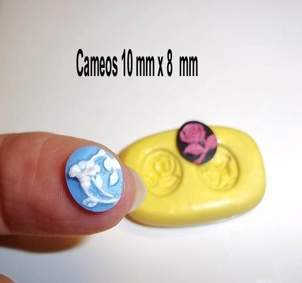 J241 - Flower Cameo - 2 in 1