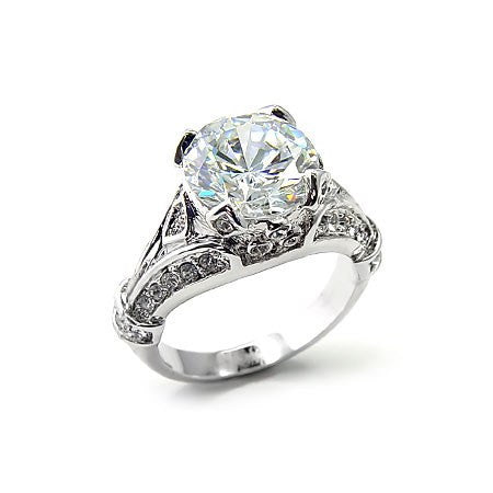 ring emilys antique style cz ring - Antique Style Wedding Rings