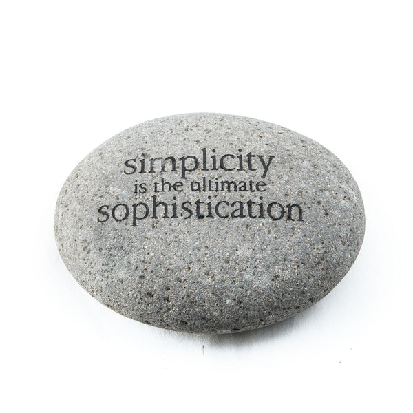 Simplicity Is… Messenger Stone