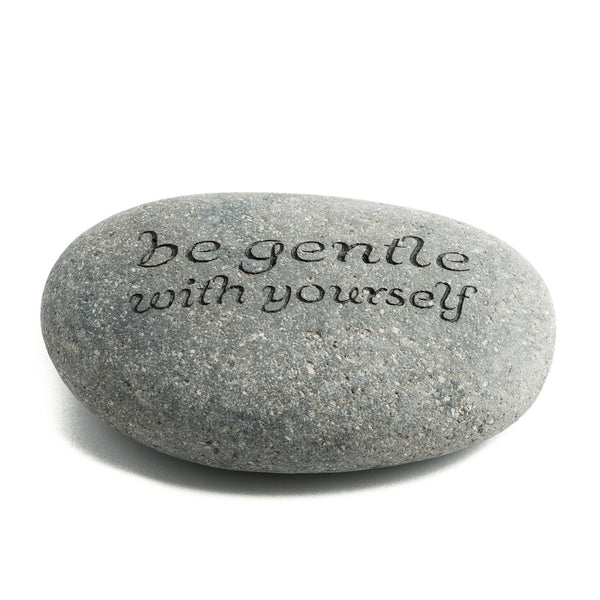 Be Gentle With Yourself Messenger Stone