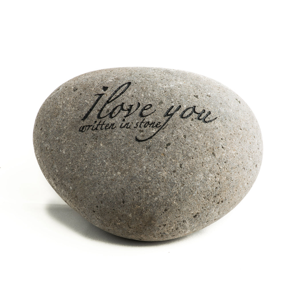 I love you (Written in Stone) Messenger Stone