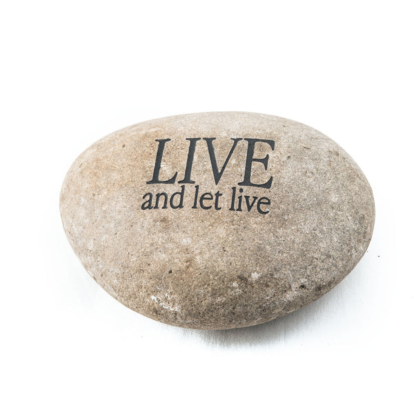 Live and Let Live Messenger Stone