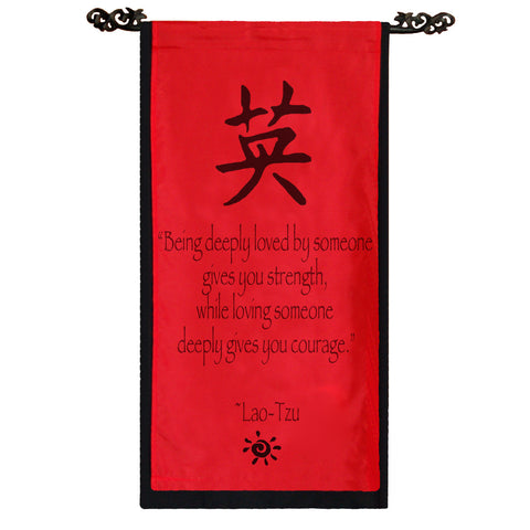 Being deeply loved by someone… Cotton Scroll