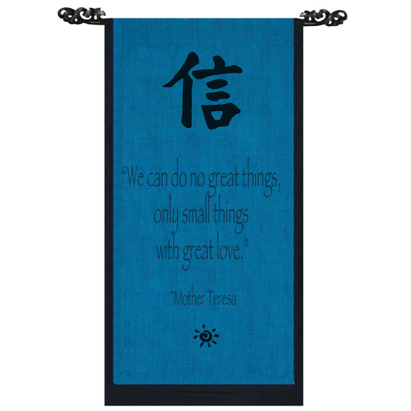We can do no great things… Cotton Scroll