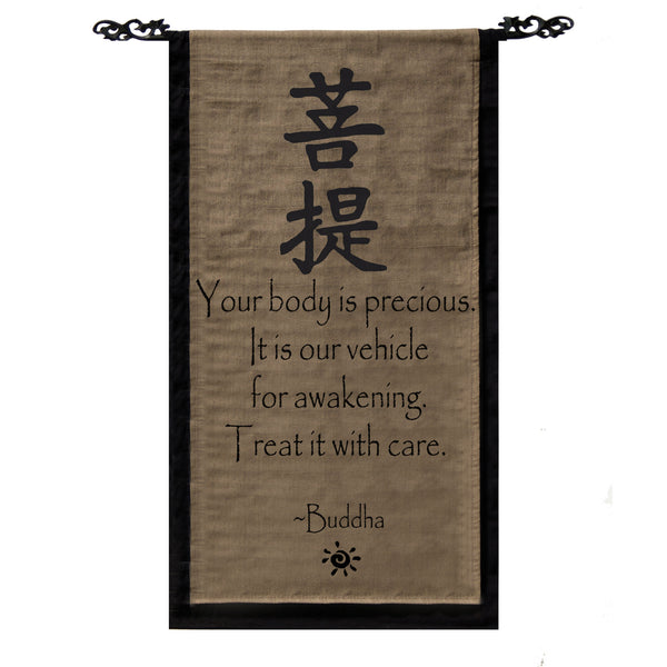 Your body is precious… Cotton Scroll