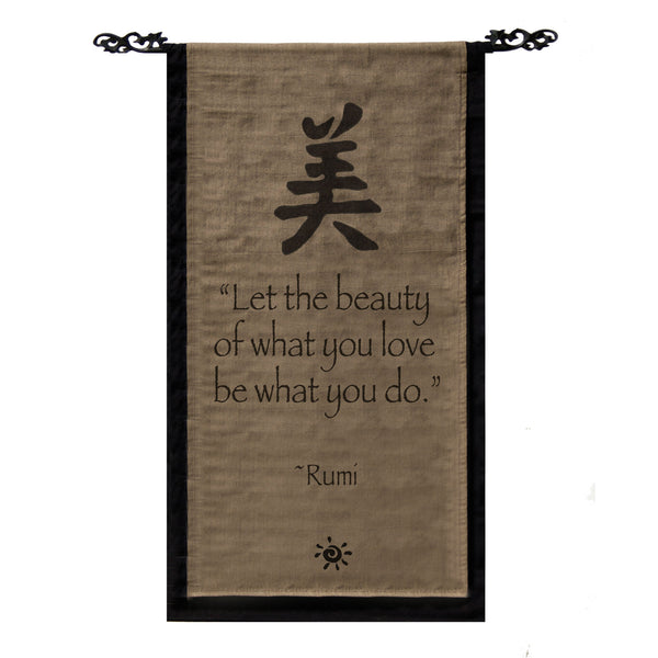 Let the beauty of what you love… Cotton Scroll