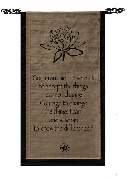 Serenity Prayer Cotton Scroll