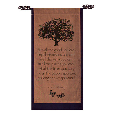 Do all the good you can… Cotton Scroll