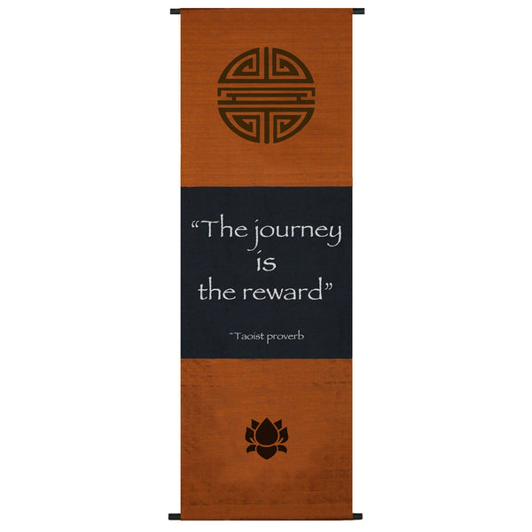 The journey is the reward... Cotton Scroll