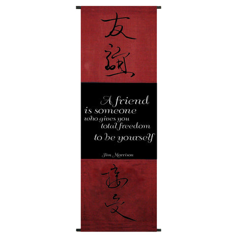 A Friend is Someone Who… Cotton Scroll