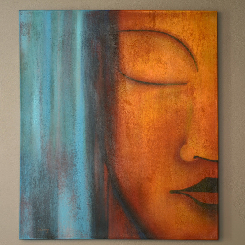 "Acrylic on Canvas ""Profile Calmness"" Painting (Small)"