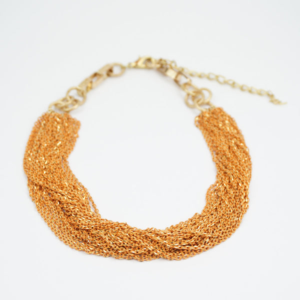 orange chain necklace