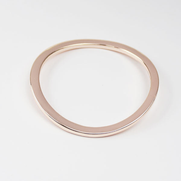 wavy rose gold bangle
