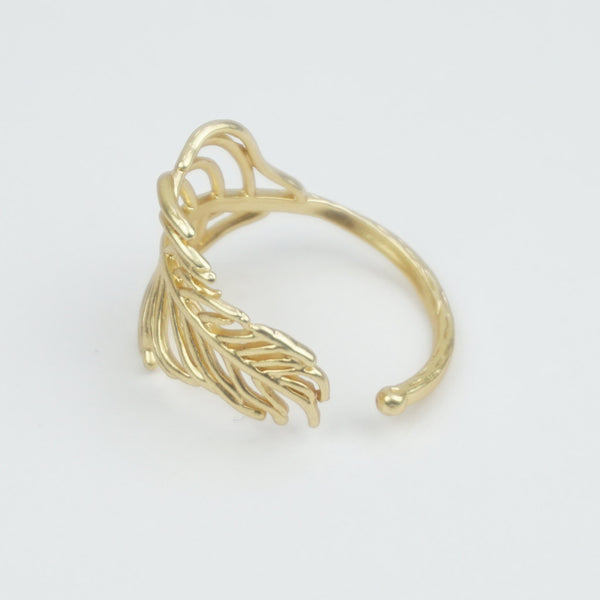 Nature gold ring