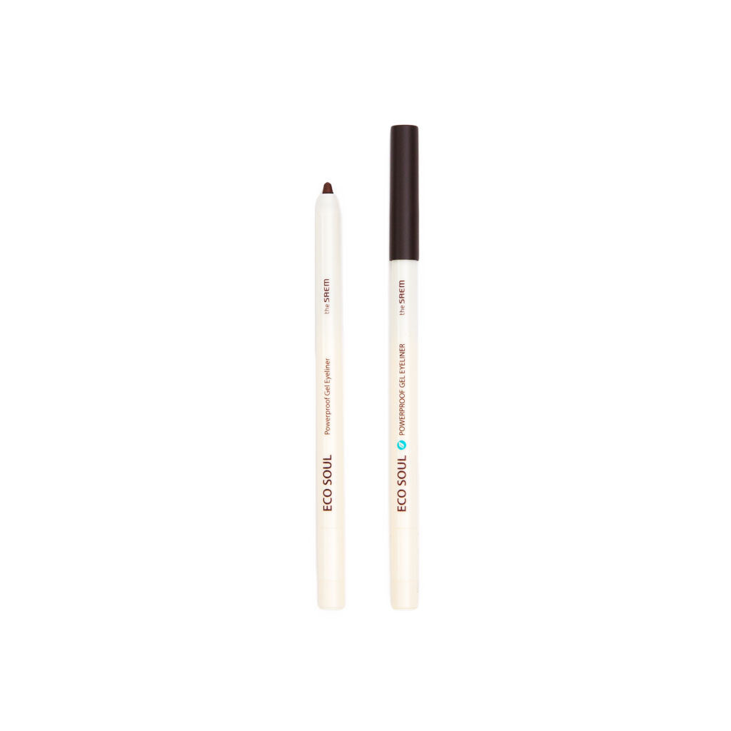 The Saem Eco Soul Waterproof Gel Eyeliner - Dark Coffee Brown