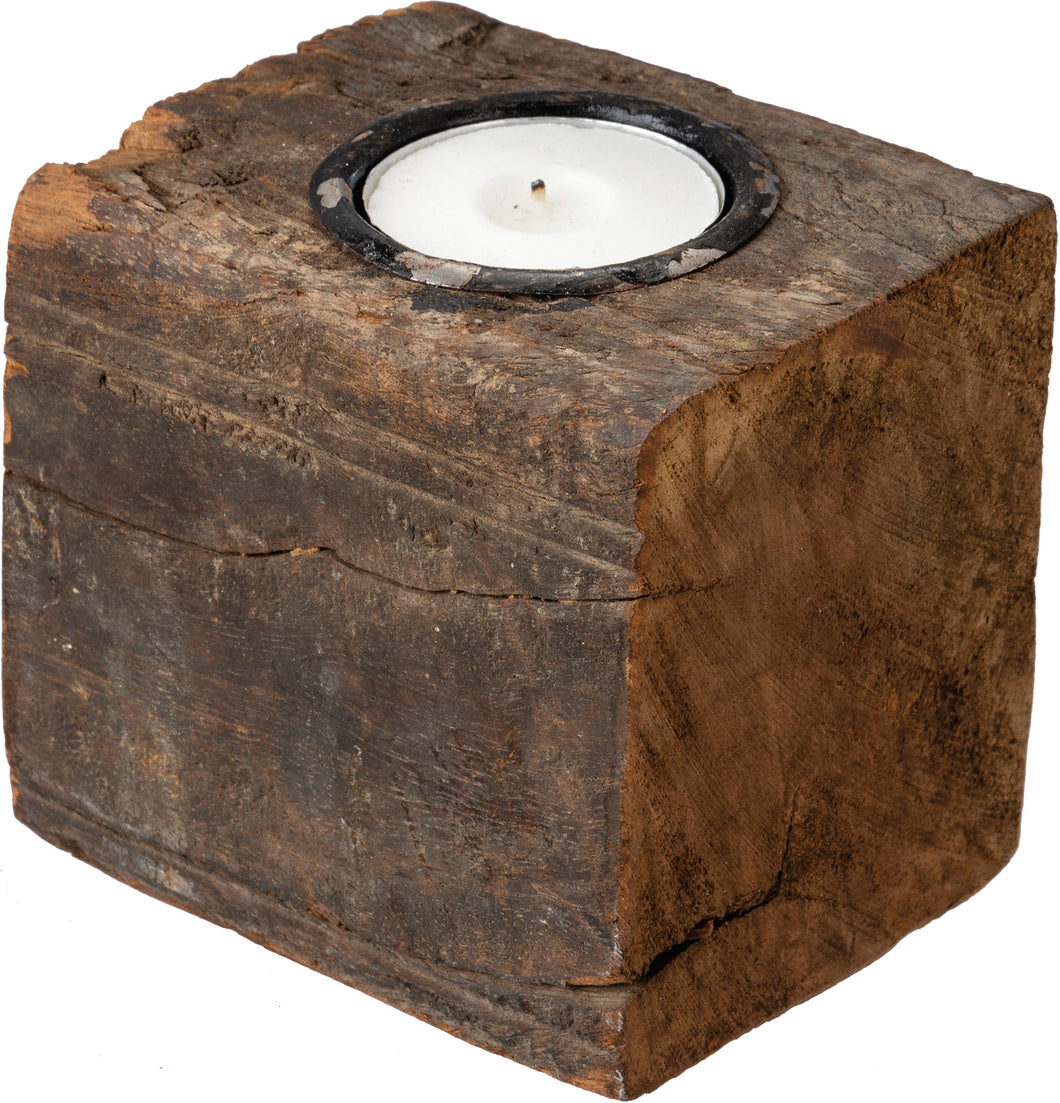 Candle Holder -Wood Block