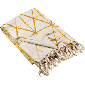 Yellow Shibori Throw