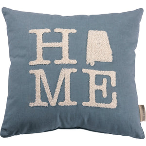 Home pillow with Alabama state