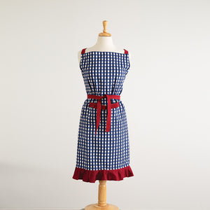 Blue and White Checkered Apron