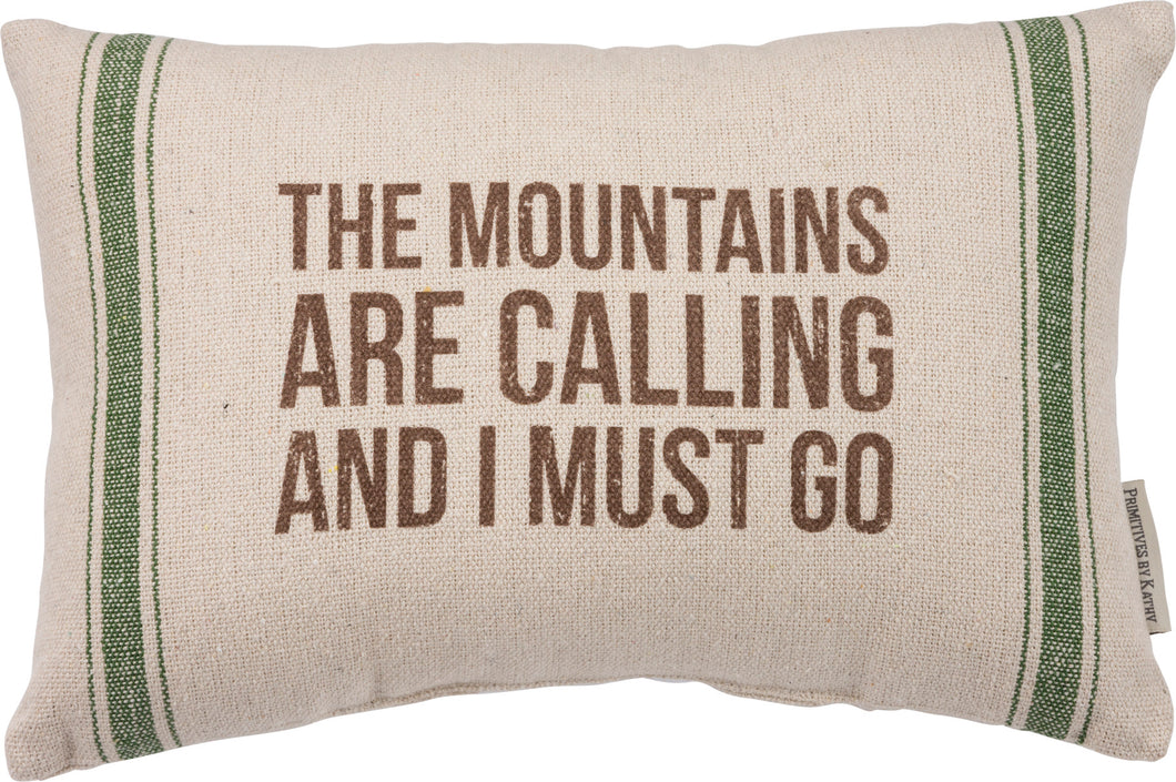Pillow- Mountains are calling