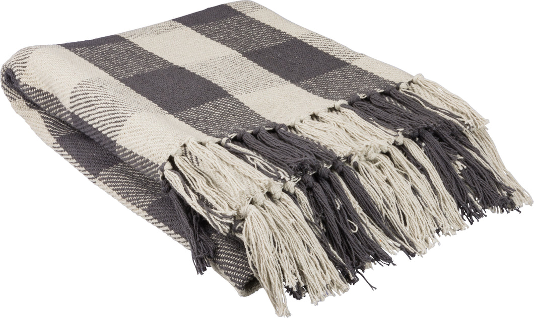 Charcoal Buffalo Check Throw