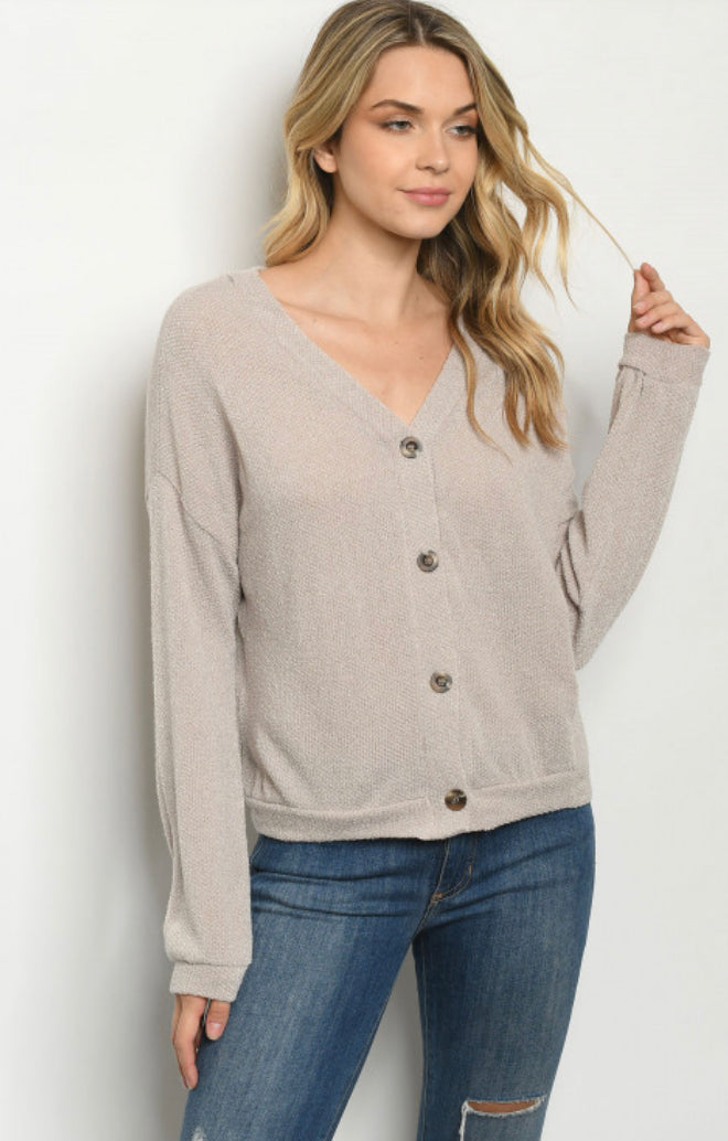 Taupe Sweater **sm-3x available