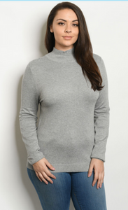 Gray plus sized sweater
