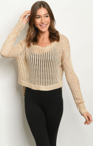 Cropped Natural Sweater