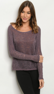 Long- Sleeve Knitted Top-* 2 colors
