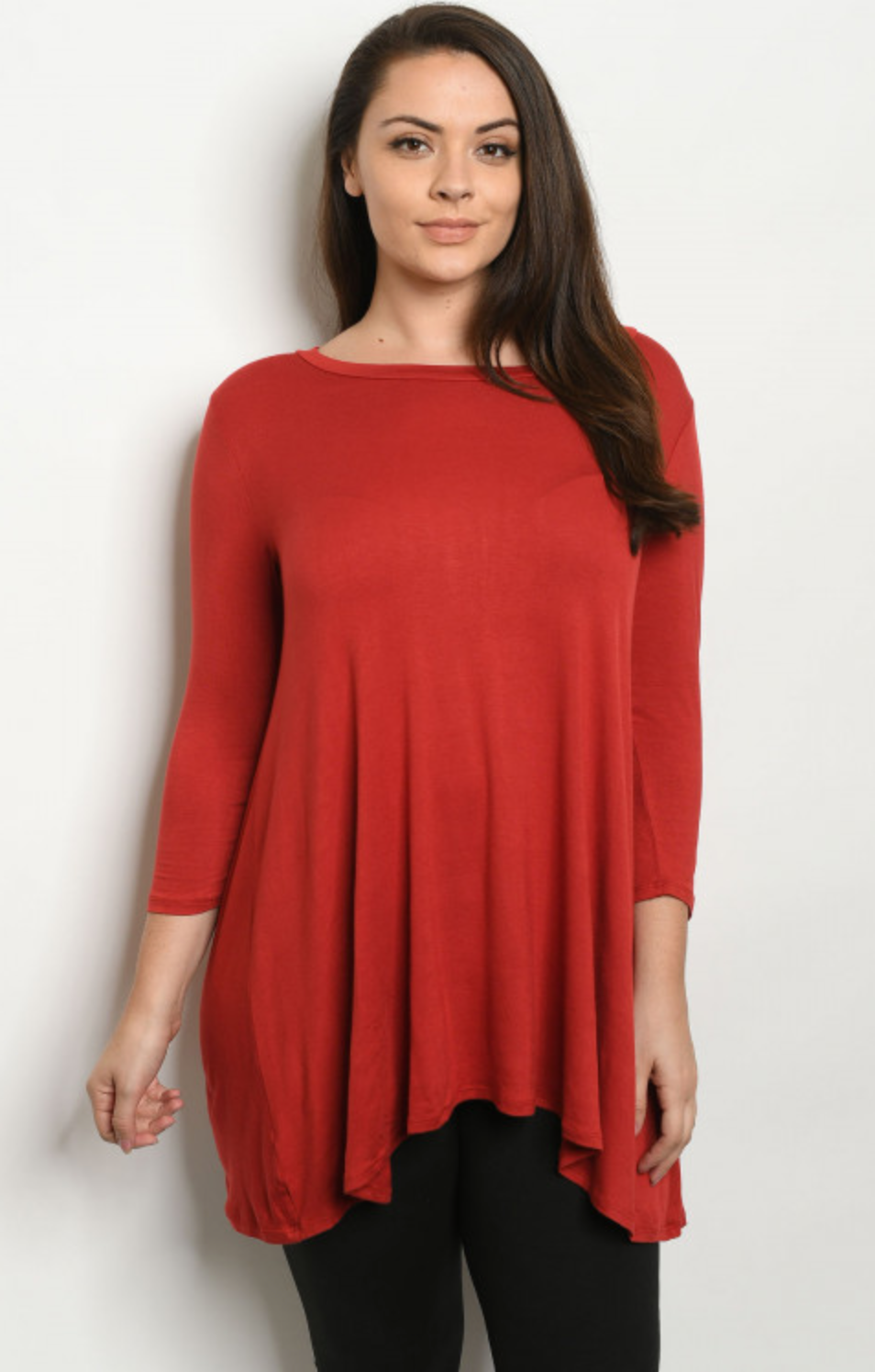 Rust Plus size top