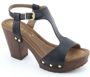Joy Wedge Sandal - Black