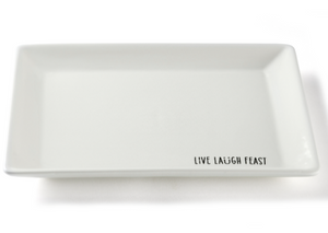 Serving Platter- love, laugh, feast