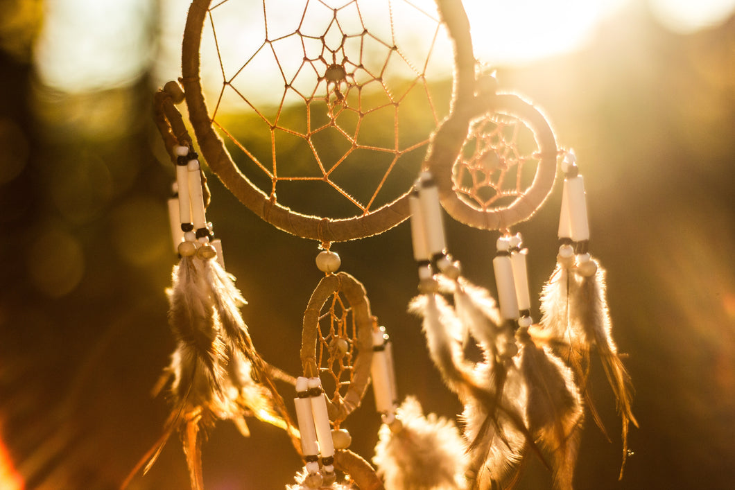 Dream Catcher Wooden Wick Candle