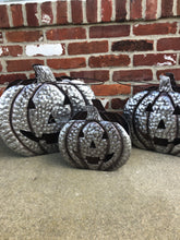 Load image into Gallery viewer, Galvanized pumpkin pail with cutout